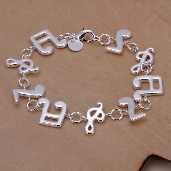 Alicia Keys Musical Bracelet 925 Silver Plated