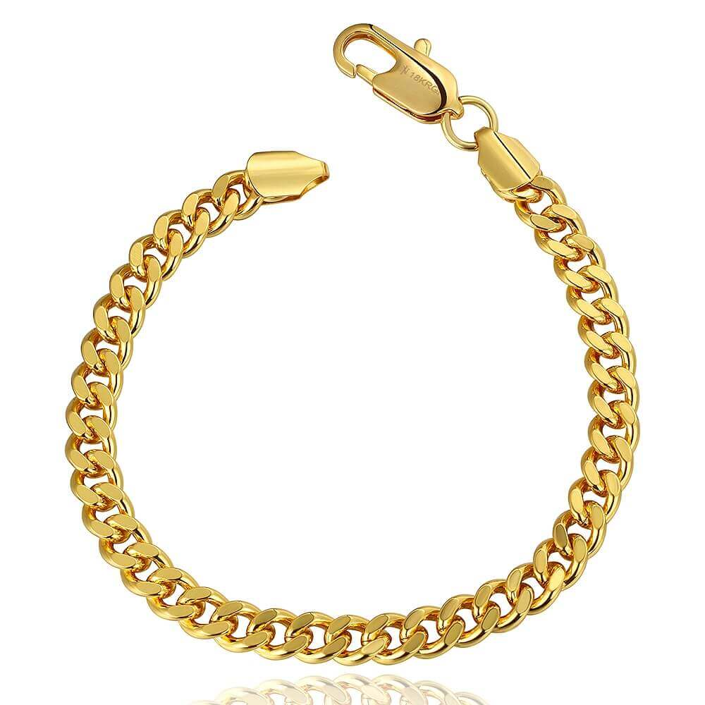 Alex 18K Gold Plated Chain Bracelet (Unisex)